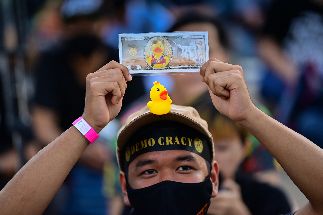 'Rubber duck revolution' takes off in Thailand