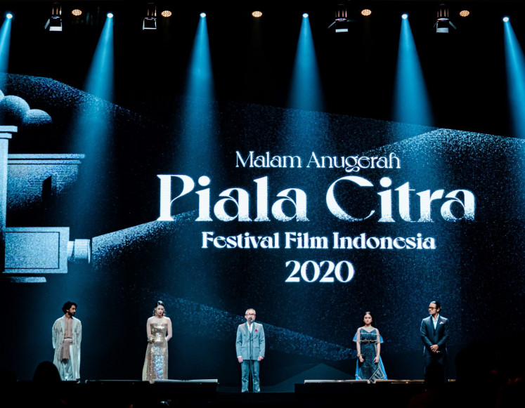 Real and virtual stage: The award night was held at the Jakarta Convention Center on Saturday and livestreamed through YouTube and social media platforms.