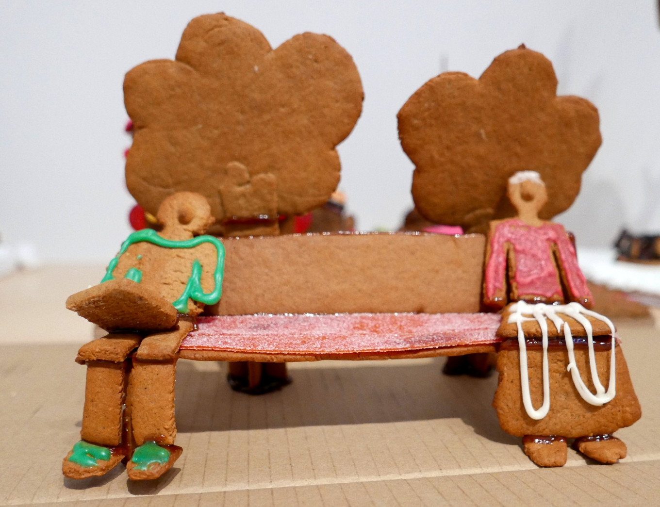 Socially distanced gingerbread illustrates Sweden's pandemic year