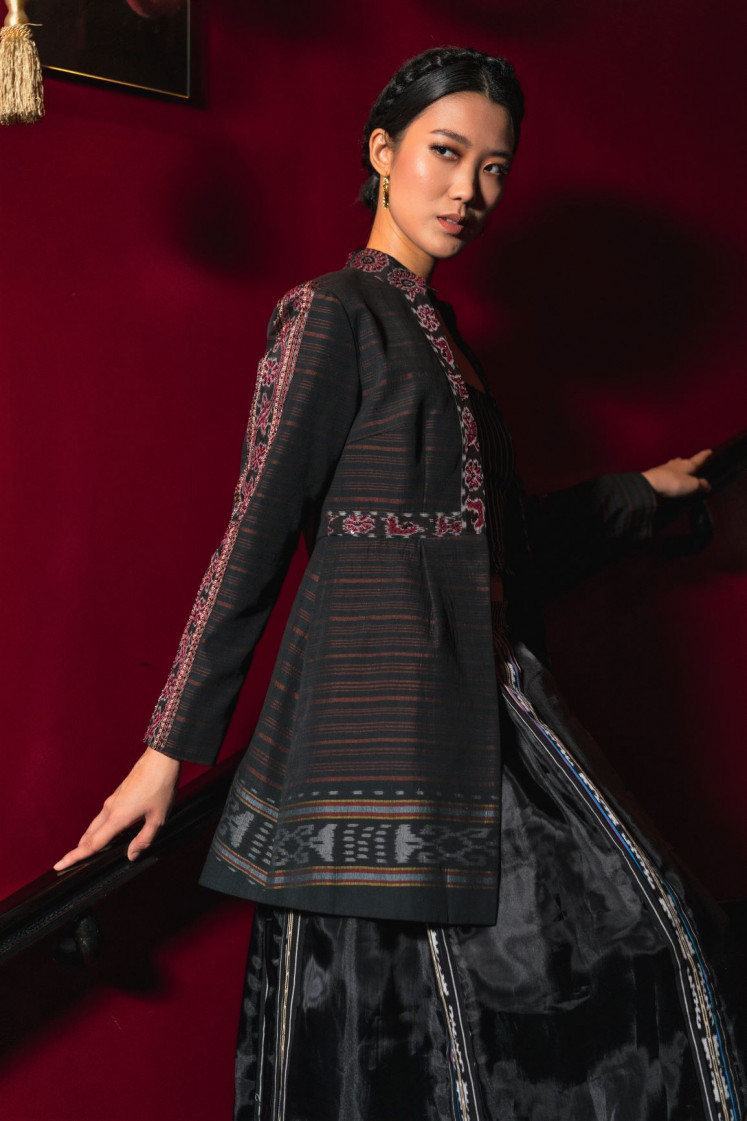 """Ethnic chic: An outer in """"Romansa Tanimbar"""" collection can also be worn as an evening outfit."""