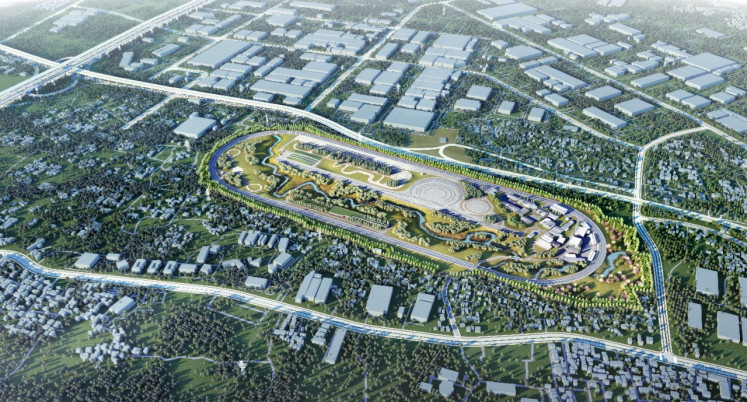 The design of the Transportation Ministry's proving ground in Bekasi, West Java.