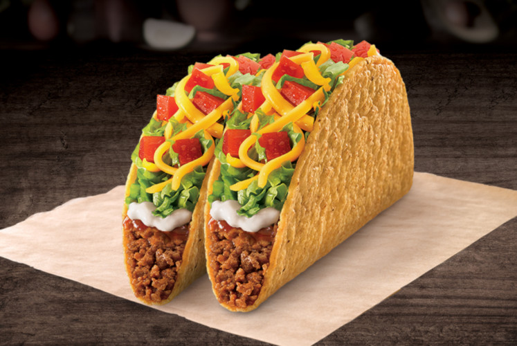 The Taco Supreme is among the dishes offered at Taco Bell Indonesia.