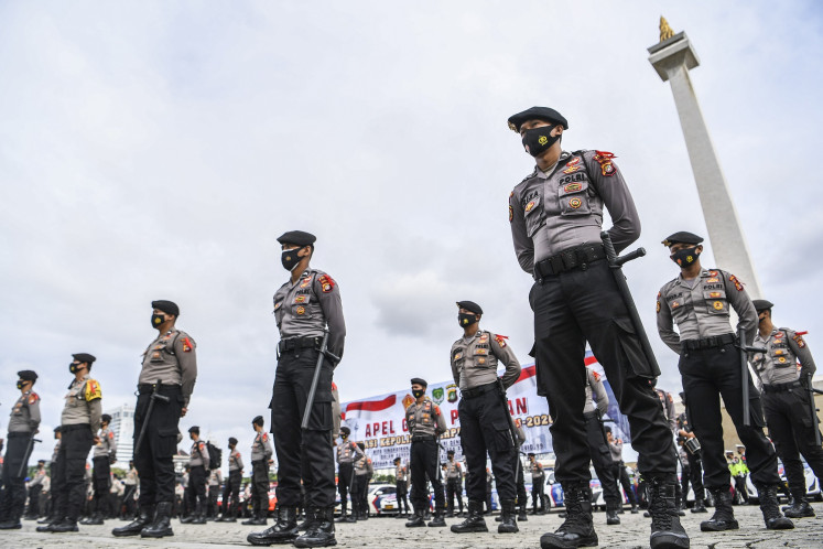 Jakarta Police prepare to prevent crowds, enforce restrictions during yearend holiday