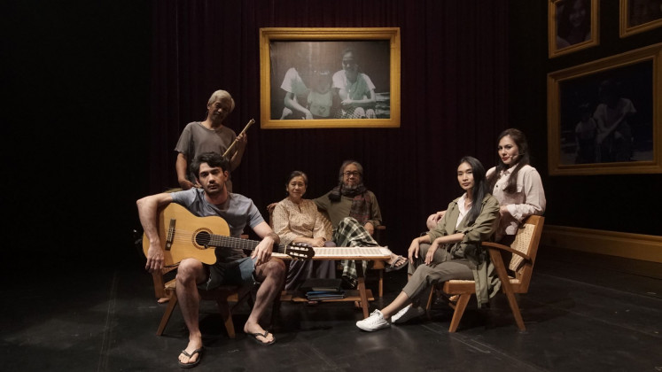 """Art mirrors life: The cast of 'Rumah Kenangan' (House of Memories) appear in this still of the 90-minute """"Cinema Play"""" from Titimangsa Foundation and the Bakti Budaya Djarum Foundation, which premiered on Aug. 15, 2020."""