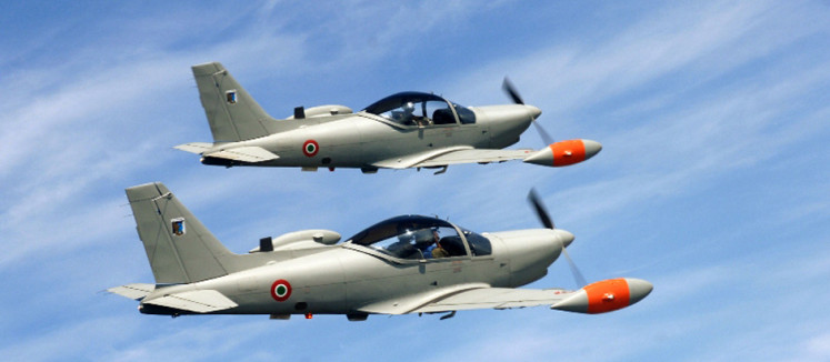 SF.260 trainer aircraft from the Italian Air Force.