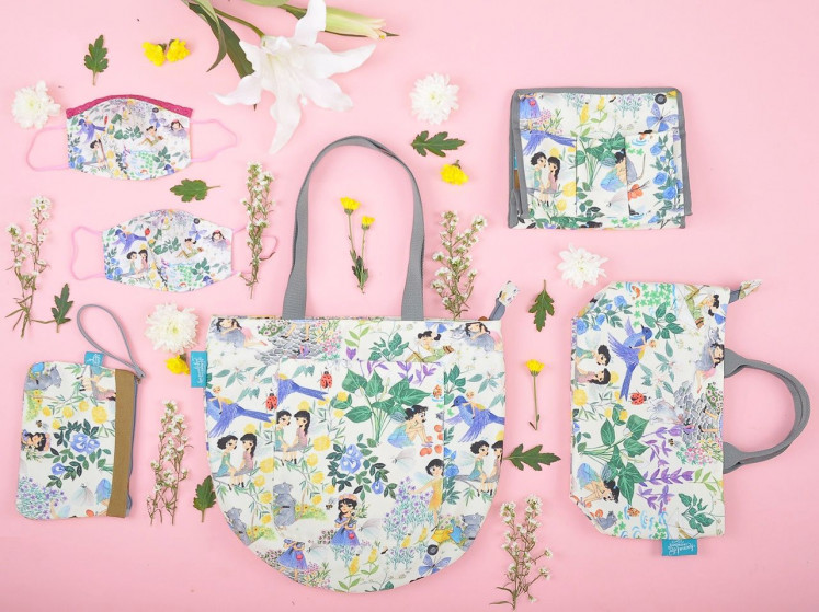 Face masks being sought-after items was acknowledged by illustrator and artist Winarti Handayani, the founder of Kamalika Artprints, which produces hand-drawn illustrations printed on cards, wall art, bags, totes and pouches.