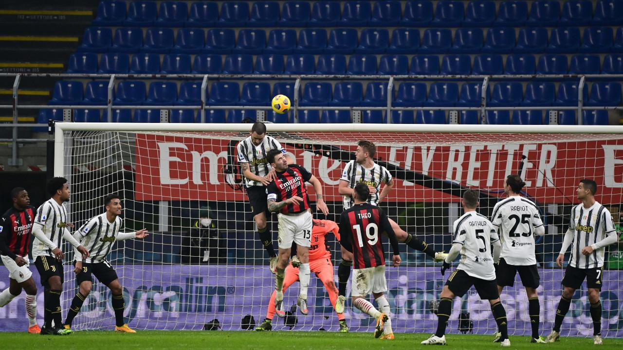 Juventus ends AC Milan's 27-game unbeaten run in Serie A