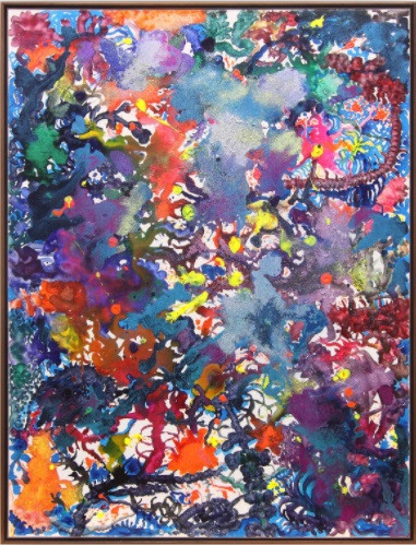 "'Rare' gem: Artist Entang Wiharso's 'Floating Garden' (acrylic and glitter on linen) is one of 36 works from eight members of the Indonesian Association of Art Galleries (AGSI) that feature in the ""Ray of Hope"" virtual exhibition, which runs through Jan. 20, 2021."