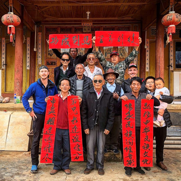 Cultural trip: Dykes (left) encounters many villages and towns along the way, experiencing the diverse cultures along the Yangtze River, China