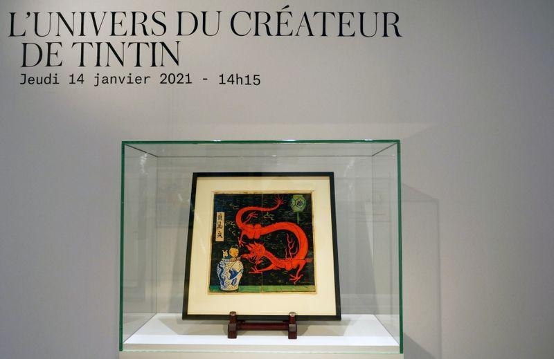 After years in a drawer, Tintin painting tipped to fetch over 2 million euros
