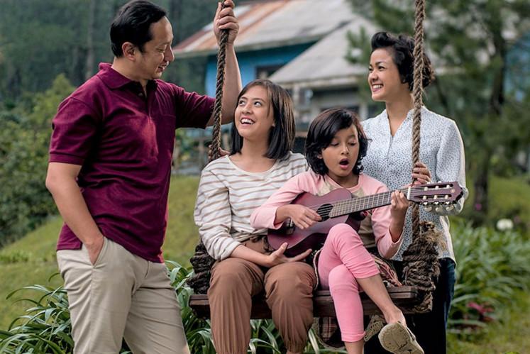 Award-winning: Visinema's 'Keluarga Cemara' (Cemara Family) was among the top 10 most watched movies last year with 1.7 million viewers.