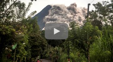 Mount Merapi erupts, spews clouds of ash