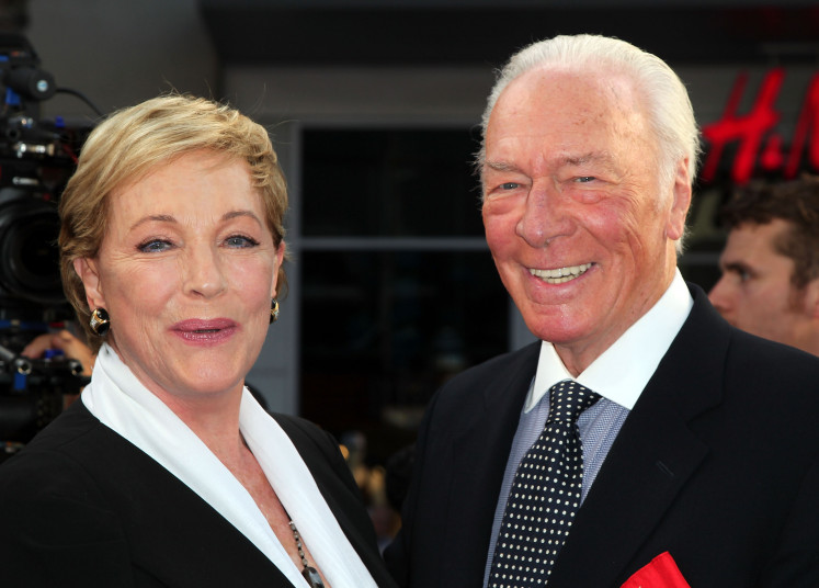 Actors Julie Andrews (left) and Christopher Plummer attend the 2015 TCM Classic Film Festival Opening Night Gala 50th anniversary screening of