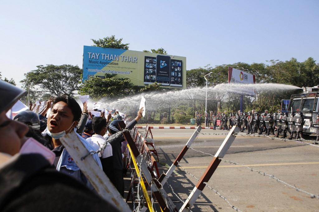 Myanmar protester shot in the head last week has died, brother says