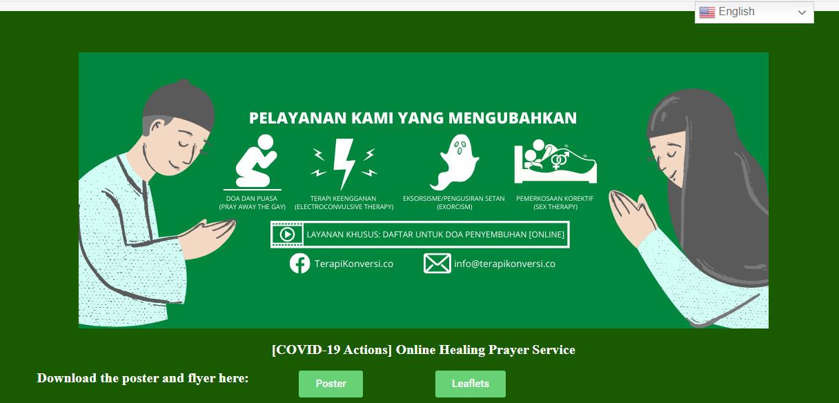 'Conversion therapy' website haunts Indonesian LGBT activists