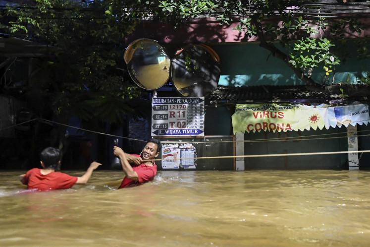 Five killed in Jakarta severe floods