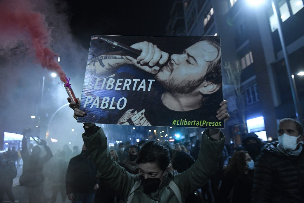 Rapper's arrest the last straw for Spain's young protesters