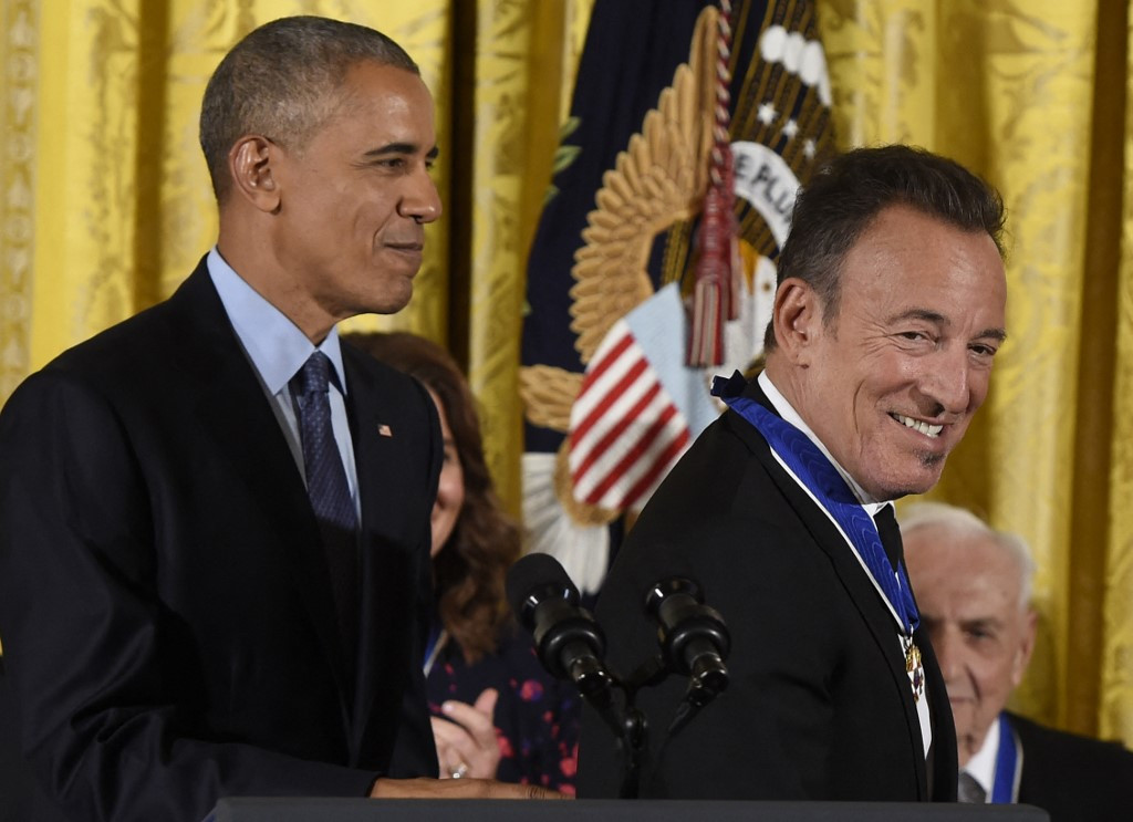 Two bosses, one 'American ideal': Bruce and Barack make a podcast