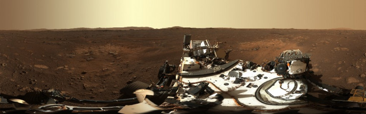 NASA releases panorama taken by Mars rover
