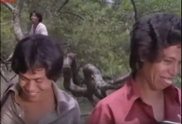 Kasino (left) and Dono are all smiles in a still from 'Mana Tahaaan...' (1979), Warkop DKI's first feature film outing.