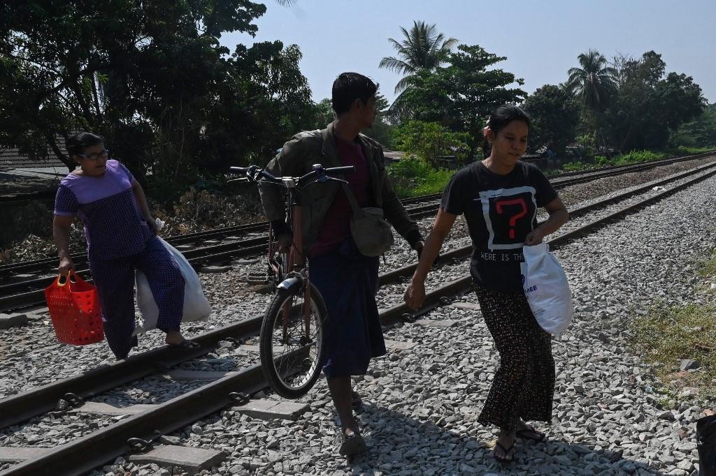 Myanmar security forces target striking railway workers