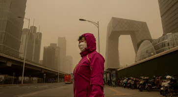 'Like the end of the world': Beijing faces worst sandstorm in decade