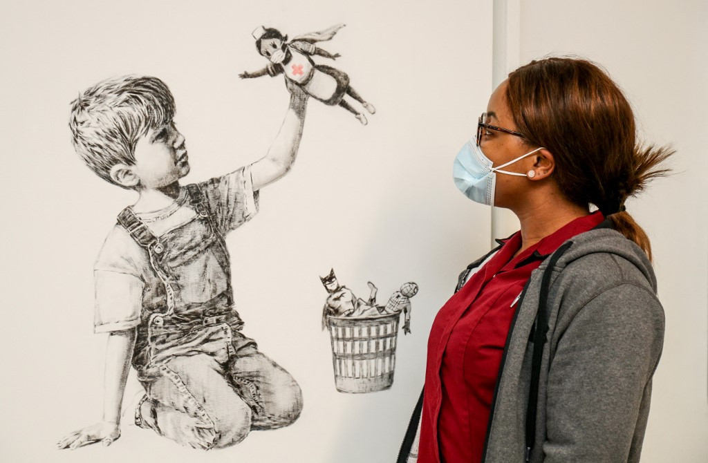 Banksy NHS tribute sells for record $20 million at auction