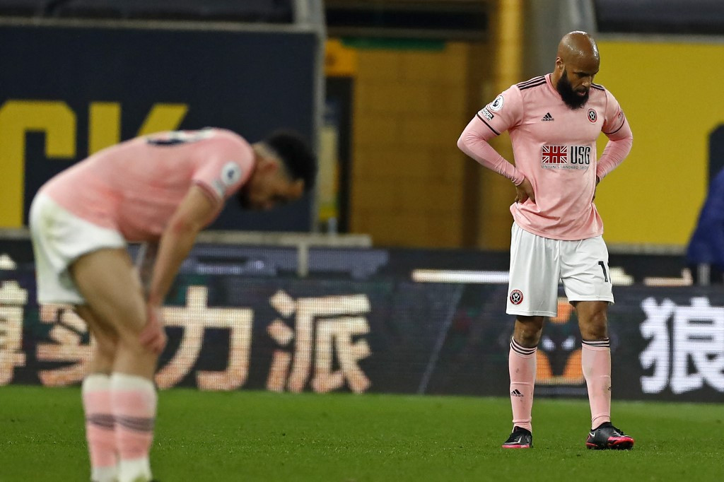 Sheffield United relegated from Premier League after loss at Wolves