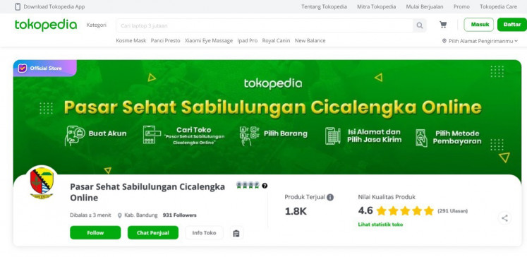 Shop the future: The Pasar Sehat Sabilulungan Cicalengka online market was born out of the changing societal habits caused by the pandemic.