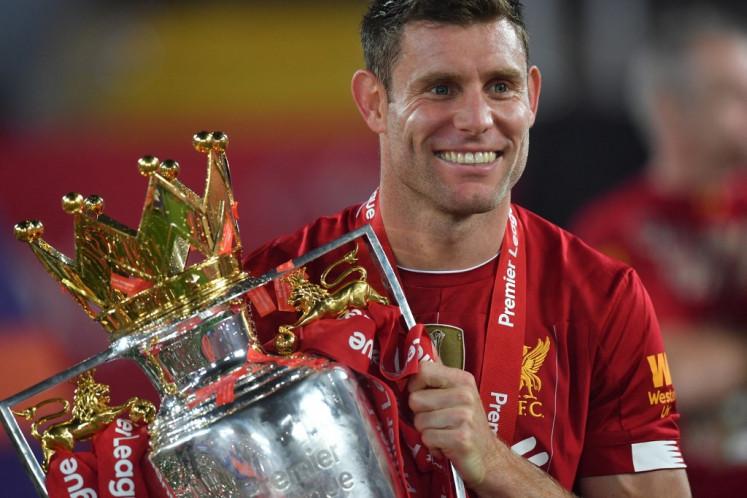 Liverpool's English midfielder James Milner.