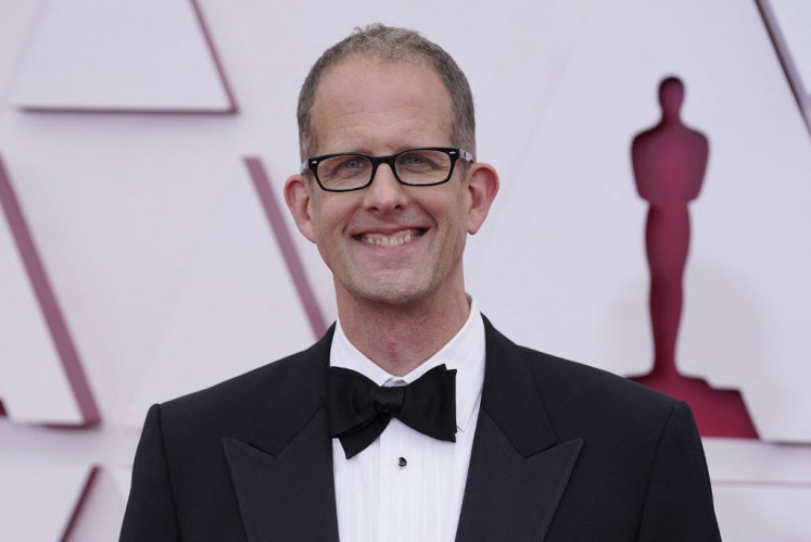 Chief creative officer of Pixar Pete Docter arrives at the Oscars on April 25, 2021, at Union Station in Los Angeles.
