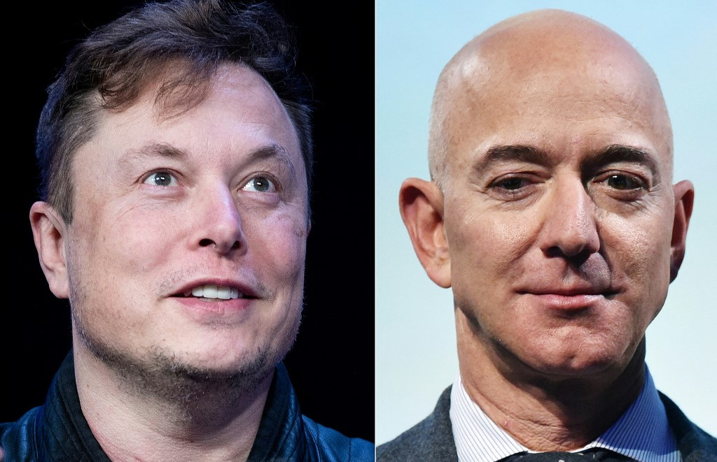 Egos clash in Bezos and Musk space race
