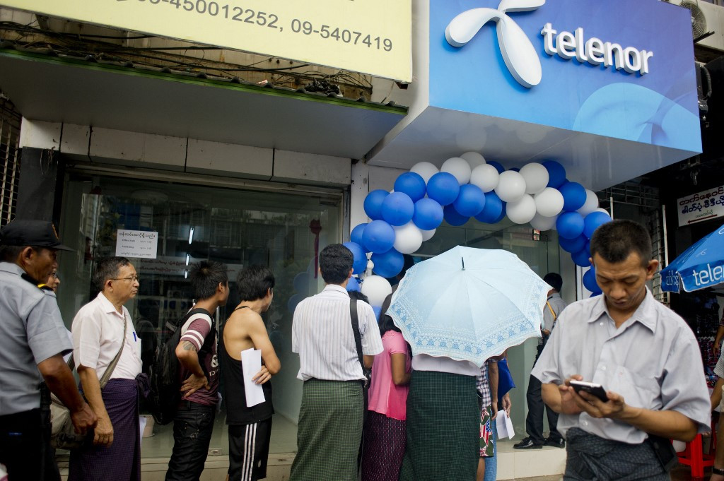 Myanmar unrest pushes Telenor deep into loss