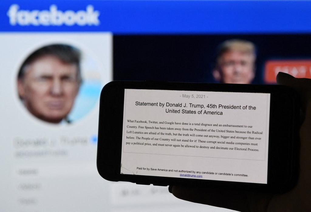 Trump moves to assert party control despite Facebook ban