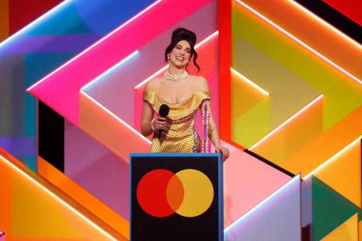 Dua Lipa wins British Album of the Year in female-dominated Brit Awards