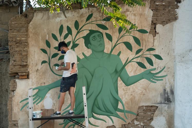Greek artist Fikos, who describes himself as a