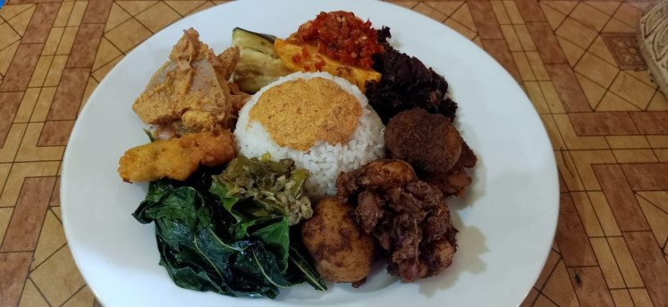 Vegan style: Another kind of Padang: the menu at Warung Padang Vegan.
