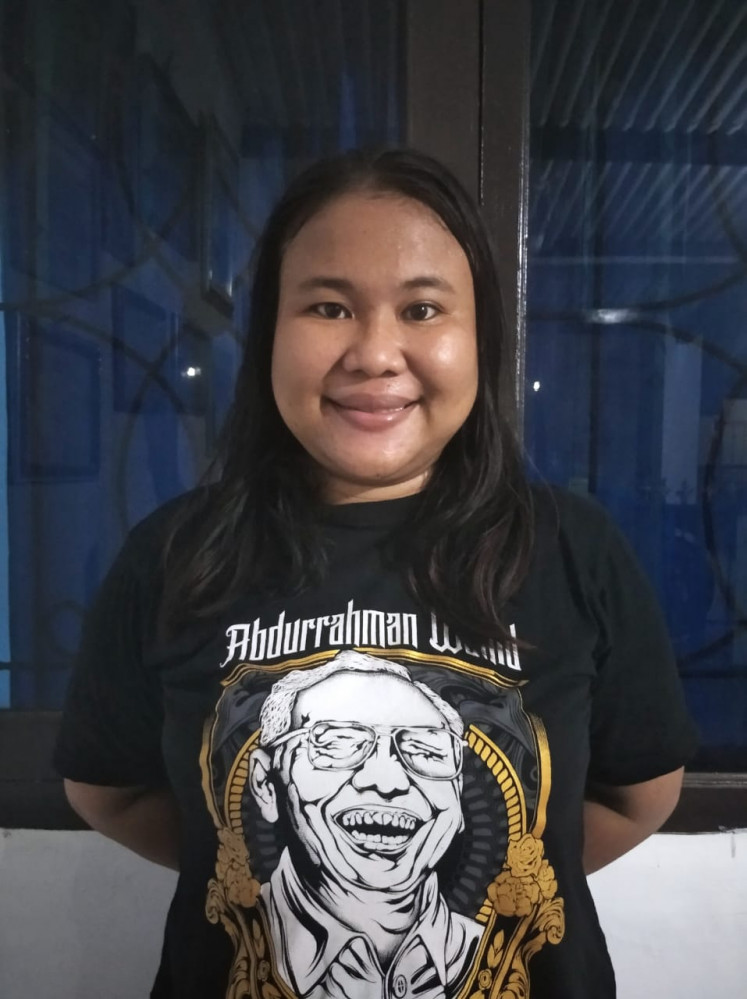 Inspiring: Inspiration House founder Cici Situmorang, 33, hopes to help children from Cirebon, West Java, embrace the multicultural values of Pancasila, Indonesia's foundational philosophy. Courtesy of Cici Situmorang.