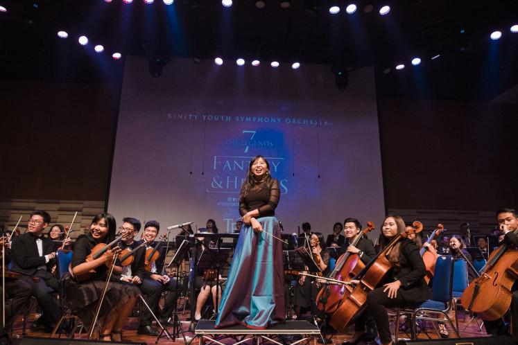 Membantu musisi lain: Nathania Karina mendirikan Music Avenue, sebuah perusahaan hiburan musik.  (Nathania Karina)